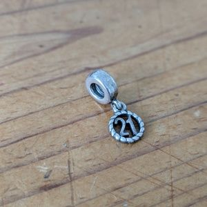 Pandora Retired 21 dangle charm